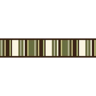 Sweet JoJo Designs Green and Brown Ethan Modern Wall Border