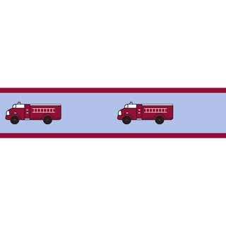 Sweet JoJo Designs Frankie's Firetruck Wall Border