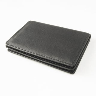 Tandi Men's Black Napa Leather Bi-fold Slim Wallet