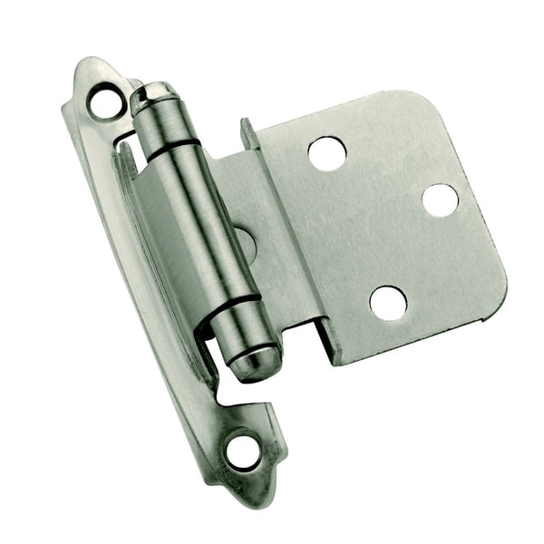 Amerock Antique Silver 0.375-inch Offset Face Mount Self Closing Hinges (Pack of 10)