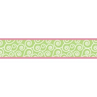 Sweet JoJo Designs Olivia Pink and Green Wall Border