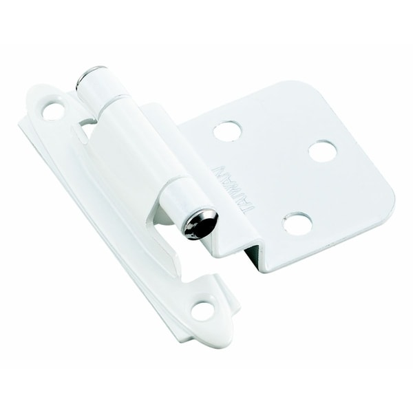Amerock Gloss White 0.375-inch Offset Face Mount Self Closing Hinges (Pack of 10)
