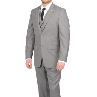 Stacy Adams Men's Medium Grey Two-button Vested Suit