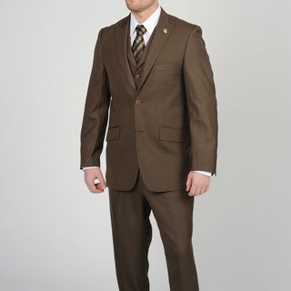 Stacy Adams Men's Brown 2-button Vested Suit