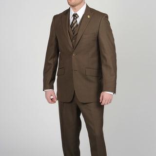 Stacy Adams Men's Brown 2-button Vested Suit