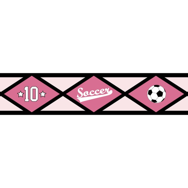 Sweet JoJo Designs Girls Soccer Wall Border