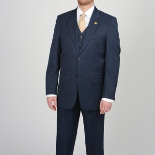 Stacy Adams Men's Navy 2-button Vested Suit