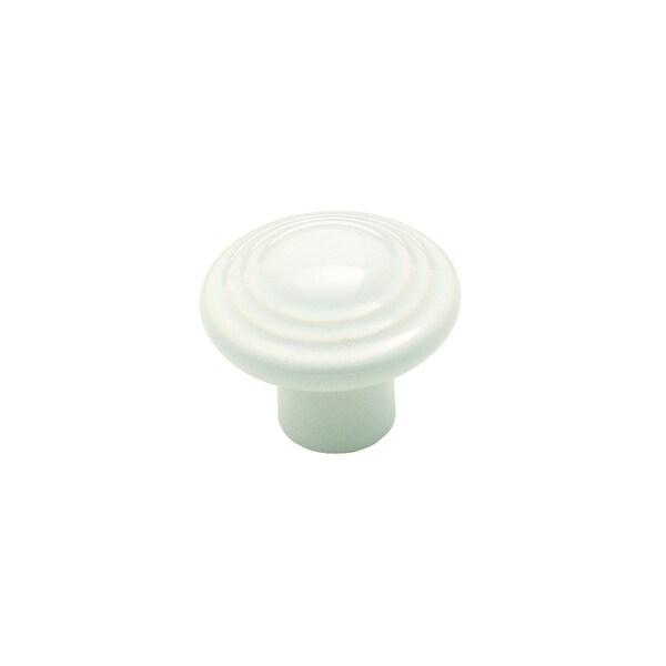 Amerock 3 Ring White Ceramic Cabinet Knob (Pack of 3)