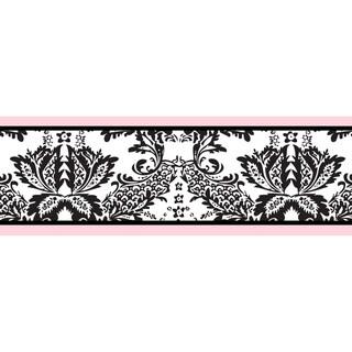 Sweet JoJo Designs Pink and Black Sophia Wall Border