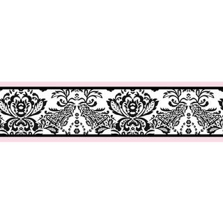 Sweet JoJo Designs Pink and Black Sophia Wall Border