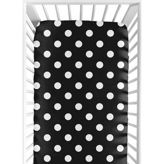 Sweet JoJo Designs Dot Print Hot Dot Fitted Crib Sheet