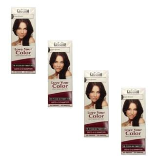 CoSaMo Love Your Color 779 Dark Brown Non-Permanent Hair Color (Pack of 4)