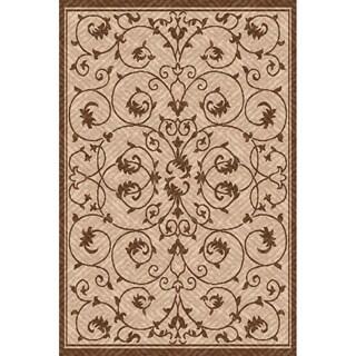 Beige/ Light Brown Outdoor Patio Rug (7'x10 x 11')