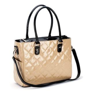 JP Lizzy Classic Crema Patent Diaper Bag