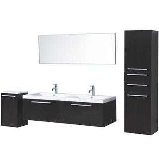 ... 57 Inch Double Sink Vanity By Brianna 57 Inch Double Sink Bathroom  Vanity Set ...