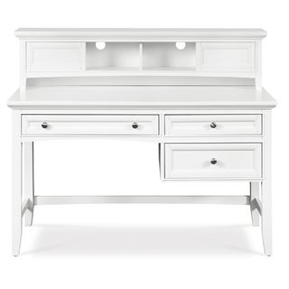 Magnussen 'Kenley' White 3-drawer Desk with Hutch