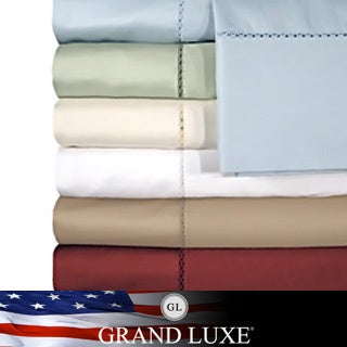 Grand Luxe Egyptian Cotton Bellisimo 500 tc Deep Pocket Sheet Seperates or Pillowcase Pair Separates