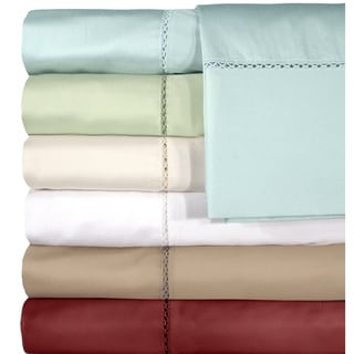 Grand Luxe Egyptian Cotton Bellisimo 500 Thread Count Deep Pocket Sheet Separates or Pillowcase Pair Separates