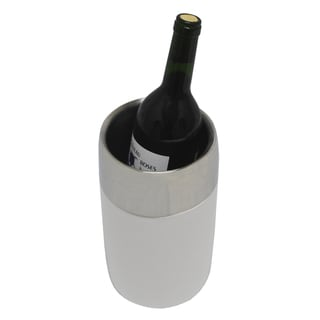 Kindwer Stainless Steel and Wood Wine Bottle Cooler