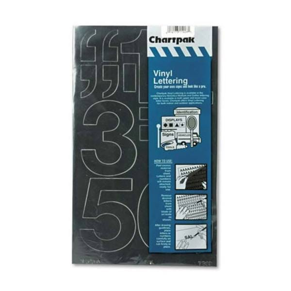 Chartpack Black Vinyl Self Adhesive 3-inch Numbers (10 Characters)