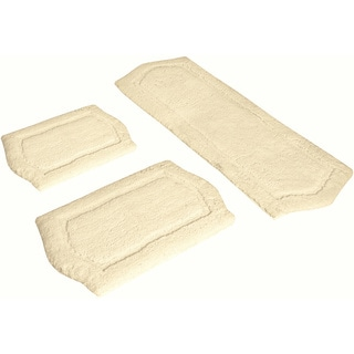 Ivory Memory Foam 3-piece Bath Mat Set