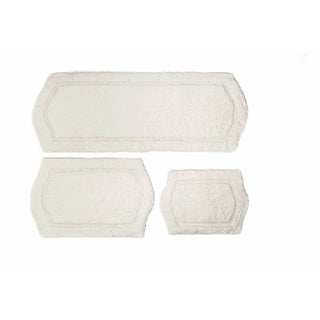 3-piece Ivory Memory Foam Bath Rug Set