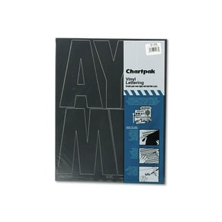Chartpack Black Vinyl Self Adhesive 6-inch Uppercase Letters (38 Characters)