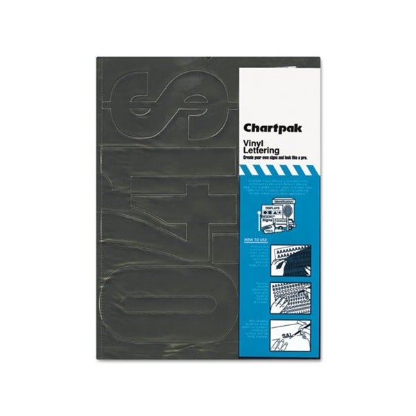 Chartpack Black Vinyl Self Adhesive 6-inch Numbers (21 Characters)