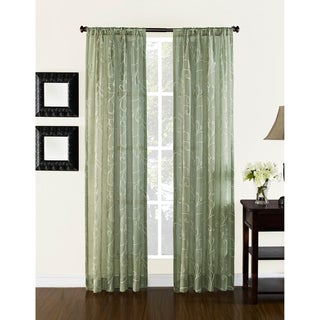Heirloom Embroidered 84-inch Curtain Panel