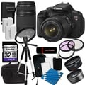 Canon EOS Rebel T4I Digital SLR Camera w/ 18-55 IS II & 75-300 III Lens with 32GB Bundle
