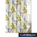 City Scene Pressed Flower Cotton Shower Curtain