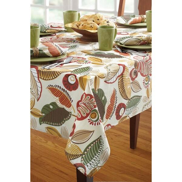 Benson Mills Capri Natural Indoor/ Outdoor Tablecloth