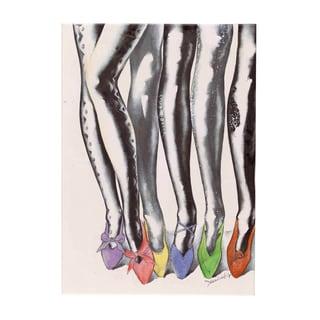 Fabrice de Villeneuve 'Loving Fashion2' Giclee Canvas Art