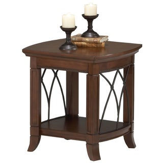 Cathedral Cherry Finish End Table