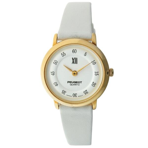 Peugeot Vintage 380-7 Goldtone/ White Watch