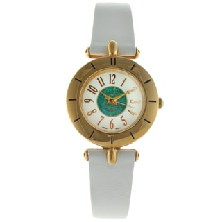Peugeot Women's Vintage T-bar White Leather Watch