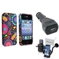 BasAcc TPU Case/ Windshield Mount/ Charger for Apple iPhone 4/ 4S