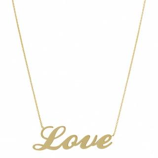 Fremada 14k Yellow Gold Polished Love Adjustable Necklace