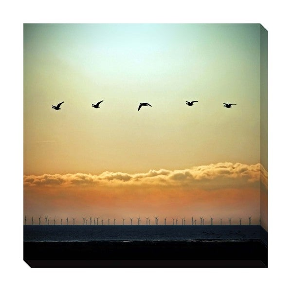 Geese in Flight Oversized Gallery Wrapped Canvas