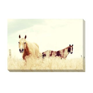 Paradise Horses Oversized Gallery Wrapped Canvas