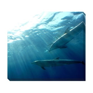 Gallery Direct Dolphins Oversized Gallery Wrapped Canvas