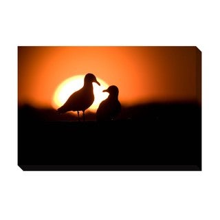 Gallery Direct Gulls Oversized Gallery Wrapped Canvas