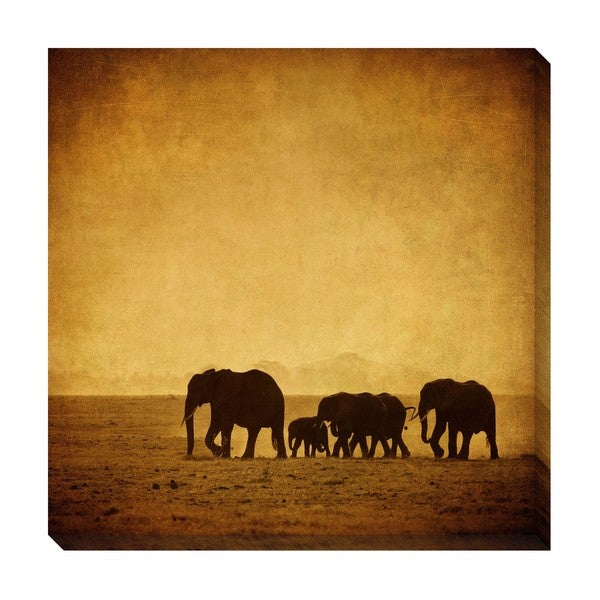 Gallery Direct Elephants Oversized Gallery Wrapped Canvas