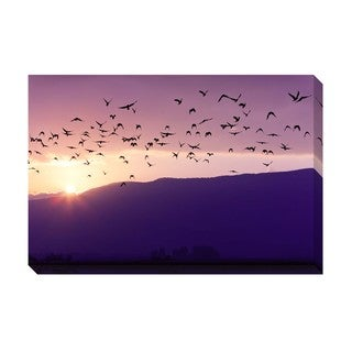 Gallery Direct Birds of a Flock Oversized Gallery Wrapped Canvas
