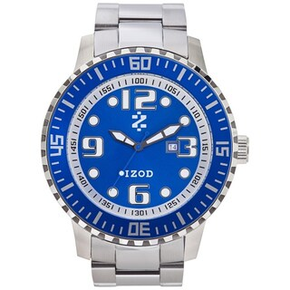 Izod Men's Stainless Steel Blue Dial Watch