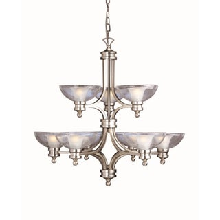 Aztec Lighting Brushed Nickel 9-light Chandelier