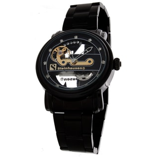 Steinhausen Men's Metal Automatic Bridge Black Dial Watch