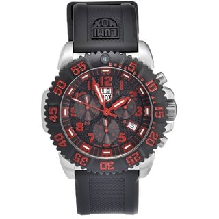 Luminox Men's Navy Seal Steel Colormark Chrono Black/ Red Watch