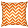 Taylor Marie Mandarin Orange Zigzag Pillow Cover