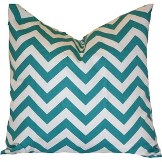 Taylor Marie TrueTurquoise Zigzag 18x18-inch Pillow Cover